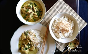 THAI GREEN CHICKEN CURRY AND COCONUT RICE
